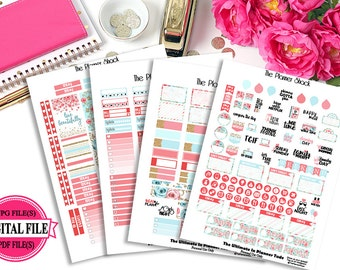 Spring Blossoms - Happy Planner - Printable Planner Stickers