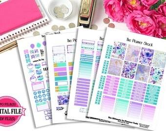 Spring Time // Erin Condren // Printable Planner Stickers