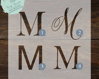 CUSTOMIZED Initial Stencil // Initial Decal // Home Decor Stencil // Gallery Wall Stencil