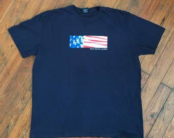 Vintage Polo Ralph Lauren Flag Box Logo