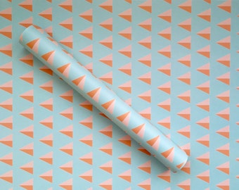 Pink Arrow Wrapping Paper Sheet