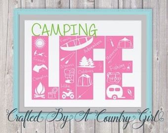 Camping Svg, Vinyl, cut file, vinyl, decal family, smores, life design, life svg, summer, yeti decal, cuttable, cut file, svg cut file