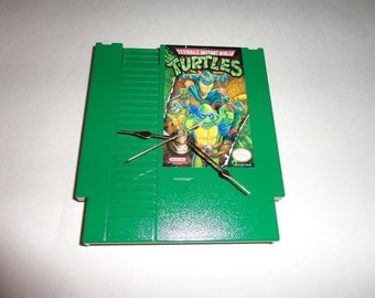Custom NES TMNT Wall Clock Quartz Nintendo Teenage Mutant Ninja Turtles Decoration Color GREEN