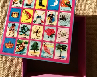 Mexican Lotería jewelry box