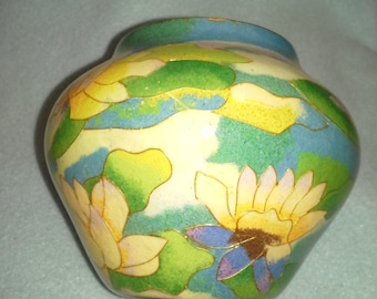Plique a Jour Water Lilies Bowl