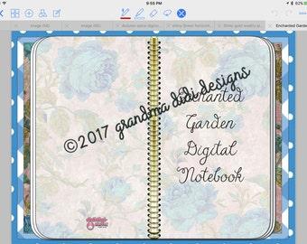 Enchanted Garden Tabless Digital Notebook