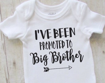 Big brother shirt - brother shirt - ive been promoted to big brother - big brother baby bodysuit - pregnancy announcement - new brother