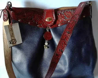 Tuscan leather purse with matching wallet