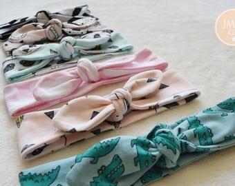 Headband (any print) , girls head band, head tie, knot head band, adult head tie, adult head band, baby head band, baby head tie