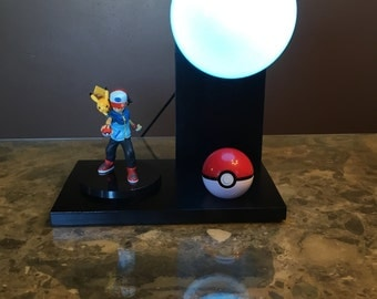 Ash and Pikachu Pokémon Lamp