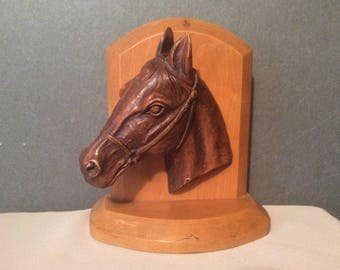 Vintage Horse Head Bookend - SyrocoWood USA