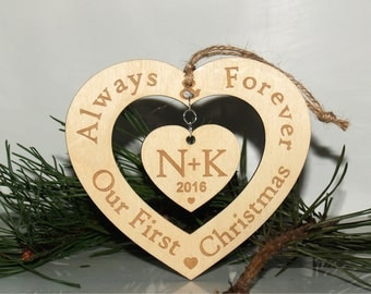 Our first Christmas ornament, Our first Christmas, Just married ornament, Just engaged ornament, Newlywed ornament, Mr and Mrs ornament