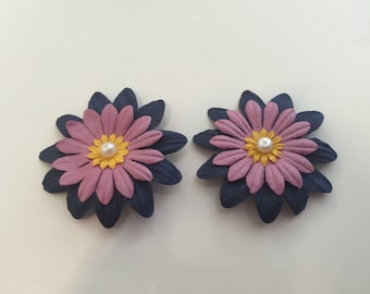 Paper Flower Earrings