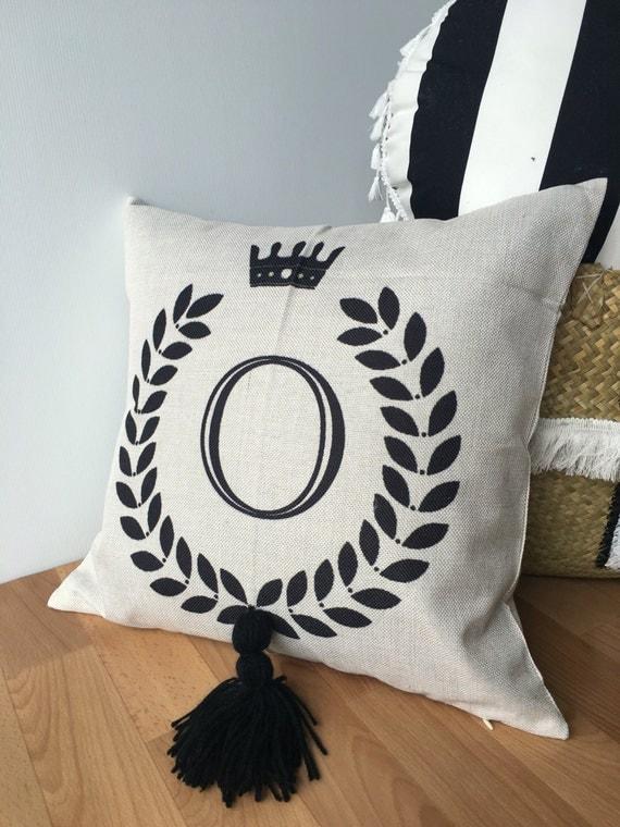 Cushion Initial Pillow Monogram Cushion Decor Home Home