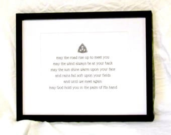 May The Road Rise Up To Meet You Wall Art Irish Blessing Printable Celtic Knot Digital Wall Art Irish Style Instant Download