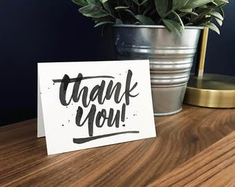 10 Hand Lettered Thank You Cards