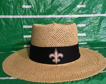 New Orleans Saints straw hat.