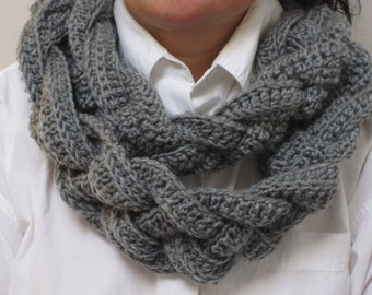 Cowl/Scarf:  Double-Layered, Braided