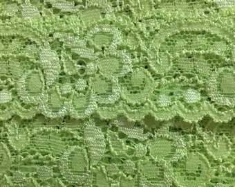 Lime Green/Yellow Lace Trim- 3YDS