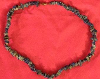 Vintage New Blue Stone Necklace