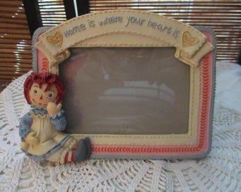 Raggedy Ann Home is Where the Heart is Photo Frame