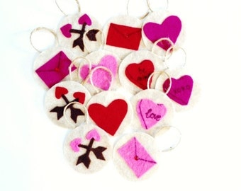 Valentine's Felt Ornaments**Can be used on Jesse Tree**