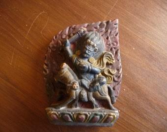 old TIBETAN deity terracotta