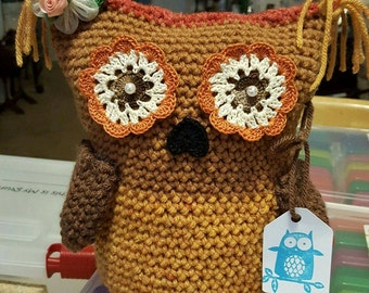 Crochet owl,my name is brown  eyes.