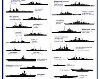 Reproduction World War II Ship Identification Poster - A3 [WW2SPA3]