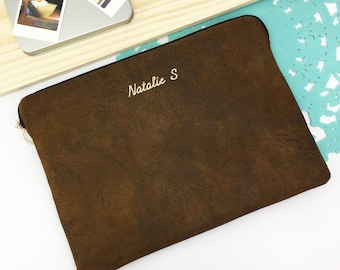 "Personalised Faux Suede 11"" 12"" 13"" 14"" 15"" 16"" Laptop Sleeve Case, MacBook - Air - Pro, EliteBook, ThinkPad,  XPS,  HP Spectre, All Size."