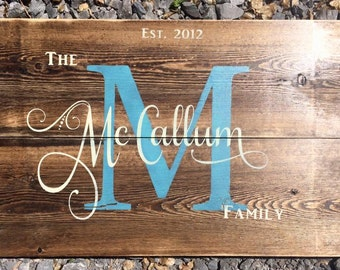 Rustic Family Name Signs