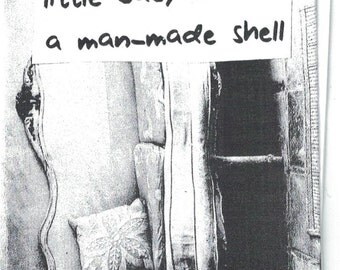 little baby in a man-made shell - folded mini-zine