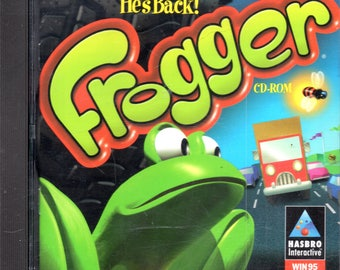 Frogger - Computer Game - CD-ROM - by Hasbro Interactive - Dos Win 95/98 Required - PC Game.