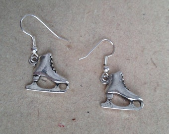 Ice Skates Earrings silver