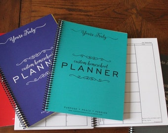 Student Planner 2017 - 2018, Homeschool Student Planner, Academic Planner, School Planner, Planner, Elementary Planner, Weekly Lesson Plans