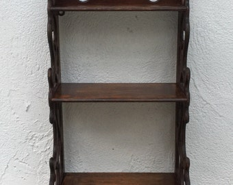 Antique Wall Hanging What Not Shelf