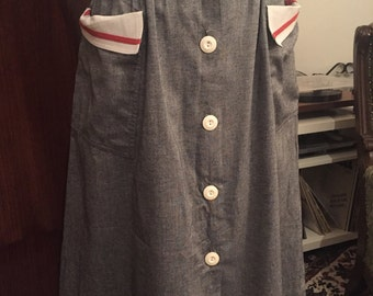 True vintage 80s skirt grey