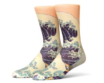 Japanese Wave Socks