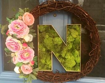 Spring Wreath, initial