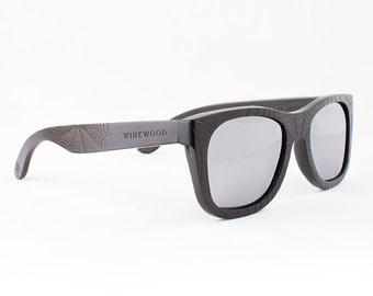 Wood Sunglasses, Polarized Sunglasses, Wooden Sunglasses, Wood Eyewear, Handmade Sunglasses, Black Sunglasses, Unique Sunglasses by WINKWOOD