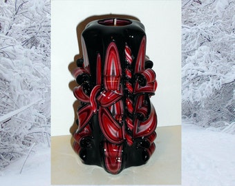 Unique handmade gift candle - Hand Carved candles - 5 inch/ 12cm