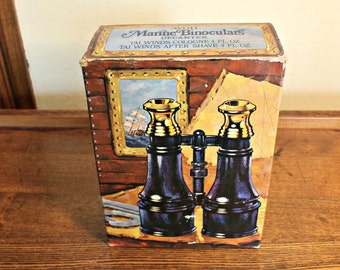 Vintage 1973 Avon Marine Binoculars Decanters in Original Box