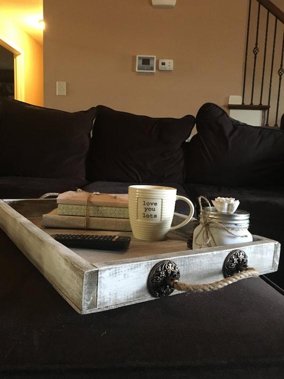 Ottoman Tray Tv Tray Remote Tray Living Room Home Decor