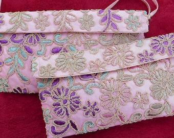 Evening Bag, Lace Evening Bag, Clutch Bag, Pink Bag, Prom Bag, Bridesmaid Bag