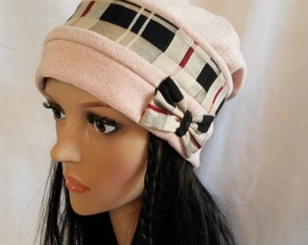 Pink Hat with fabric Scottish ground node