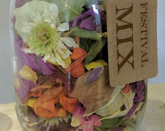 Natural Wedding Confetti! Festival Mix, Biodegradable Mixed Petal Confetti, Rose, Red, Yellow, Pink, White, Green, Mixed Colour Confetti