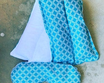 Therapeutic Rice Bag and Eye Mask Set