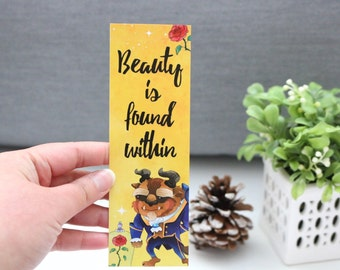 Beauty Is Found Within Bookmark - Beast and Beauty