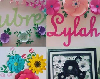 Framed paper flower, personalized, handmade in shadowbox.