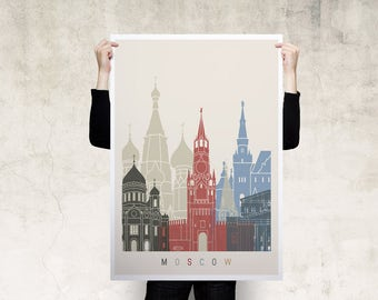Moscow Travel Poster